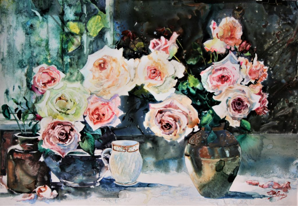 Rose Melody. WC on Yupo. 53cm x 77cm. (6)