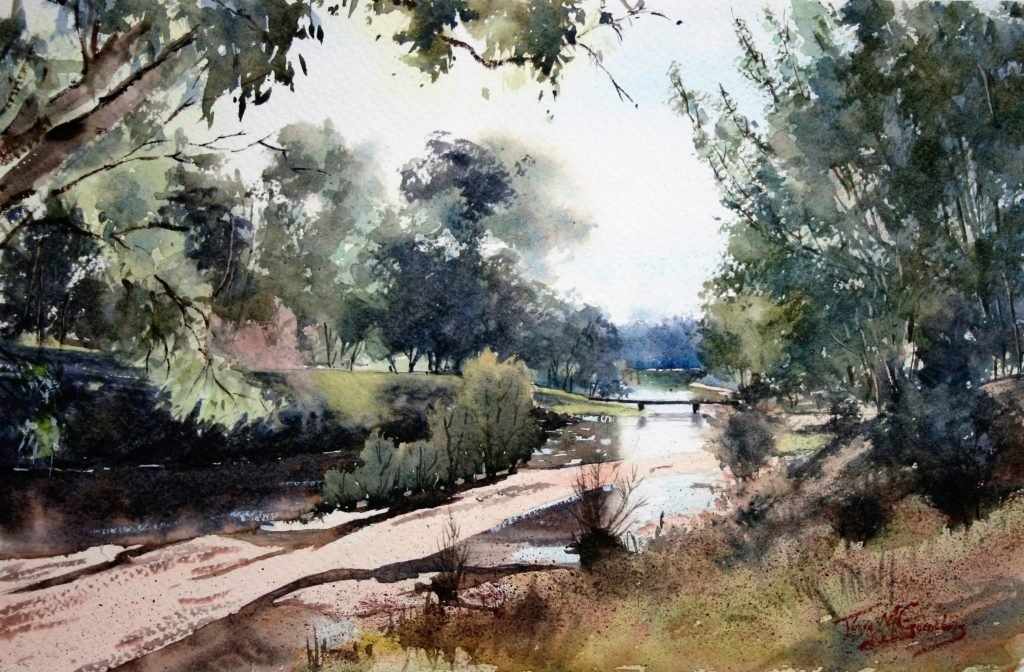 Soft-Light-Lauchlan-River-WC-on-Canson-300gsm-Rough-H55cm-x-W75cm